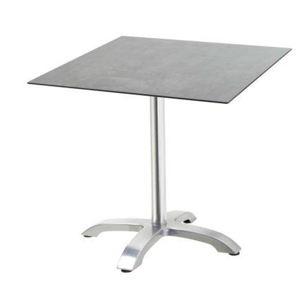 """Diamond Garden Tisch """"Cella"""", Gestell Aluminium, Tischplatte HPL, Beton dunkel, 68x68 cm"""