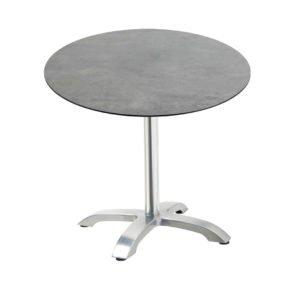 """Diamond Garden Tisch """"Cella"""", Gestell Aluminium, Tischplatte HPL, Beton dunkel, Ø 68 cm"""