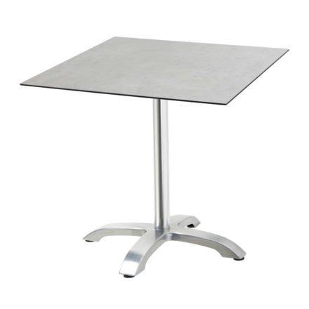 """Diamond Garden Tisch """"Cella"""", Gestell Aluminium, Tischplatte HPL, Beton hell, 68x68 cm"""