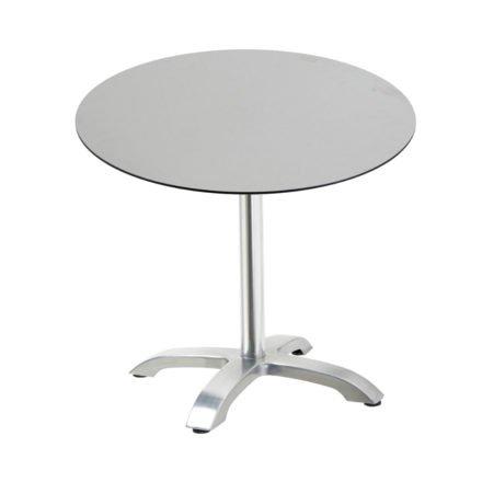 """Diamond Garden Tisch """"Cella"""", Gestell Aluminium, Tischplatte HPL, Beton hell, Ø 68 cm"""