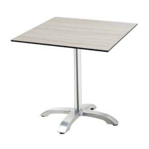 "Diamond Garden Tisch ""Cella"", Gestell Aluminium, Tischplatte HPL, Eiche sägerau, 68x68 cm"