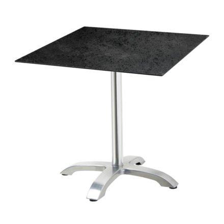 "Diamond Garden Tisch ""Cella"", Gestell Aluminium, Tischplatte HPL, Schiefer, 68x68 cm"