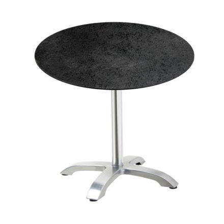 """Diamond Garden Tisch """"Cella"""", Gestell Aluminium, Tischplatte HPL, Schiefer, Ø 68 cm"""