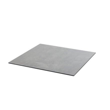 Diamond Garden DiGa Compact HPL-Tischplatte mit 20° Fase, Beton dunkel, 68x68 cm