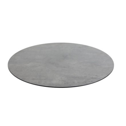 Diamond Garden DiGa Compact HPL-Tischplatte mit 20° Fase, Beton dunkel, Ø 68 cm