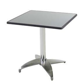 """Diamond Garden Tisch """"Leon"""", Gestell Aluminium poliert mit 4 Füßen, Tischplatte DiGalit, Punti, 70x70 cm"""