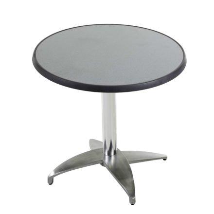 """Diamond Garden Tisch """"Leon"""", Gestell Aluminium poliert mit 4 Füßen, Tischplatte DiGalit, Punti, Ø 70 cm"""