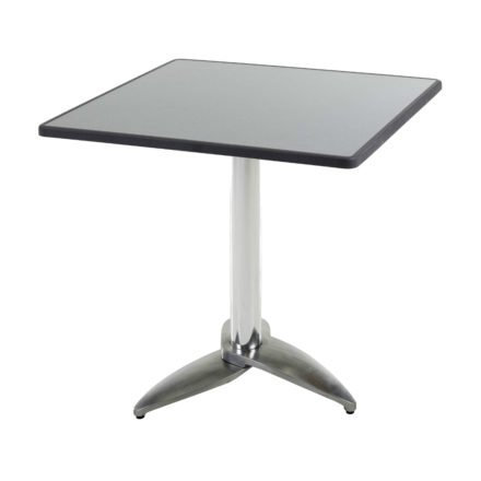 """Diamond Garden Tisch """"Leon"""", Gestell Aluminium poliert mit 3 Füßen, Tischplatte DiGalit, Punti, 70x70 cm"""