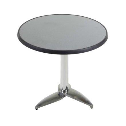 """Diamond Garden Tisch """"Leon"""", Gestell Aluminium poliert mit 3 Füßen, Tischplatte DiGalit, Punti, Ø 70 cm"""