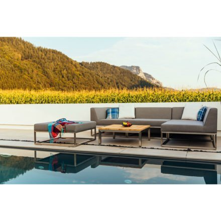 "Diamond Garden Loungeserie ""St.Tropez"", Gestell Edelstahl, Bezüge Sunbrella® grau"