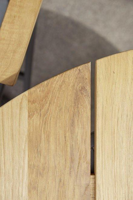 "Diamond Garden Tischplatte ""San Marino"" 3 Planken Recycled Teak Natur, Ø 120 cm"