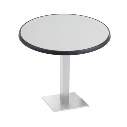 "Diamond Garden ""Viana"" Tischgestell eckig, Aluminium gebürstet, DiGalit Tischplatte, Metall gebürstet"