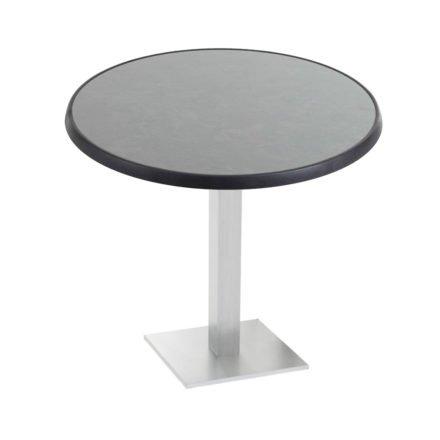 "Diamond Garden ""Viana"" Tischgestell eckig, Aluminium gebürstet, DiGalit Tischplatte, Pizarra"