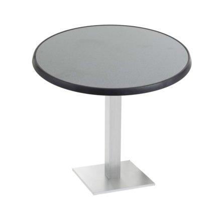 """Diamond Garden """"Viana"""" Tischgestell eckig, Aluminium gebürstet, DiGalit Tischplatte, Punti"""