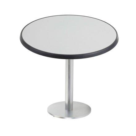 """Diamond Garden """"Viana"""" Tischgestell rund, Aluminium gebürstet, DiGalit Tischplatte, Metall gebürstet"""
