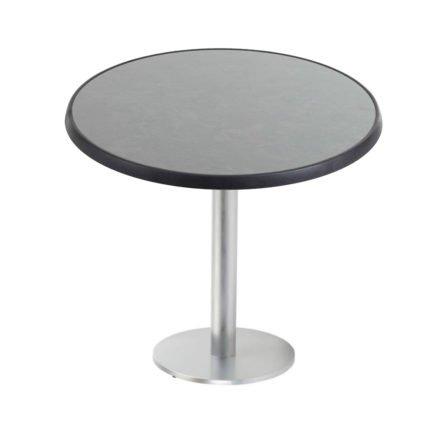 """Diamond Garden """"Viana"""" Tischgestell rund, Aluminium gebürstet, DiGalit Tischplatte, Pizarra"""