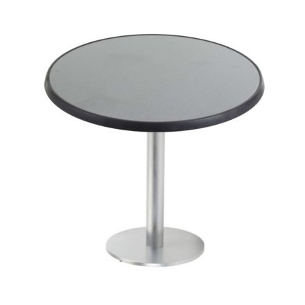 """Diamond Garden """"Viana"""" Tischgestell rund, Aluminium gebürstet, DiGalit Tischplatte, Punti"""