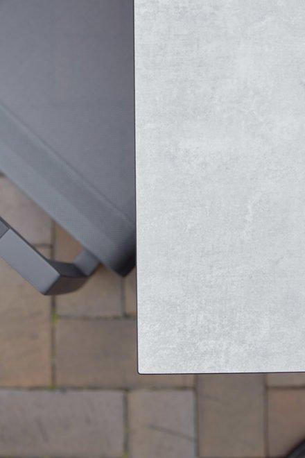 """Diamond Garden Gartentisch """"San Marino"""", Tischplatte DiGa Compact HPL Granit hell, Detail"""