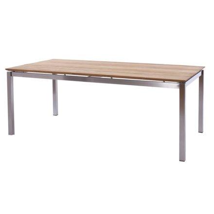 """Diamond Garden Tisch """"San Marino"""", Gestell Edelstahl, Tischplatte 3 Planken Recycled Teak Natur, 200x100 cm"""