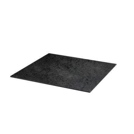 Diamond Garden DiGa compact (HPL), Tischplatte mit 20° Fase, Schiefer, 68x68 cm