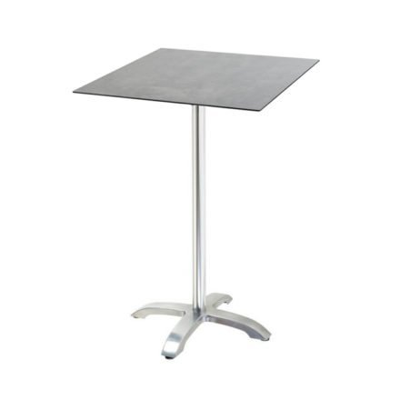 "Diamond Garden ""Cella"" Stehtischgestell Aluminium, Tischplatte DiGa Compact HPL, Beton dunkel"
