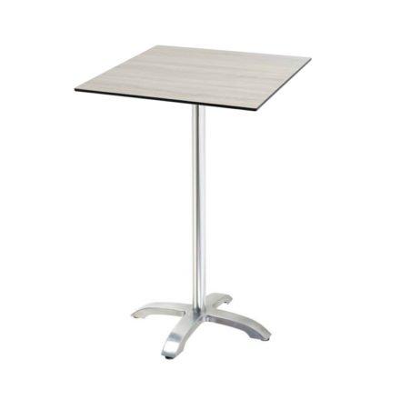 "Diamond Garden ""Cella"" Stehtischgestell Aluminium, Tischplatte DiGa Compact HPL, Eiche sägerau"