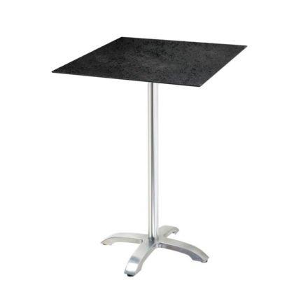 "Diamond Garden ""Cella"" Stehtischgestell Aluminium, Tischplatte DiGa Compact HPL, Schiefer"