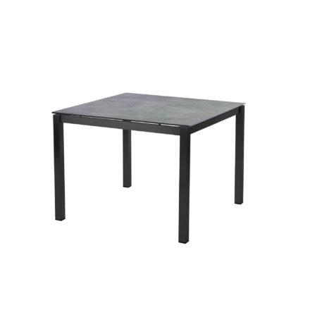 """Diamond Garden Tisch """"San Marino"""", Gestell Edelstahl dunkelgrau, Platte DiGa Compact HPL Schalbrett Beton, 100x100 cm"""