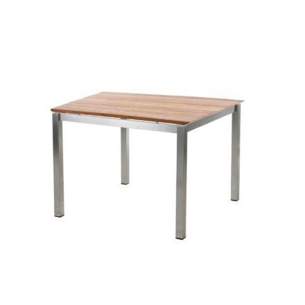 """Diamond Garden Tisch """"San Marino"""", Gestell Edelstahl, Tischplatte 3 Planken Recycled Teak Natur, 100x100 cm"""
