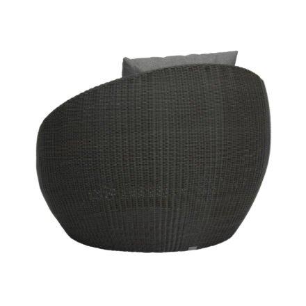 "Stern Loungesessel ""Anny"", Gestell Aluminium, Geflecht basaltgrau, Kissen seidengrau"