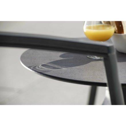 """Stern Beistelltisch """"Freddie"""", Gestell Aluminium anthrazit, Tischplatte HPL smoky, Ø 55 cm, Höhe 43 cm"""
