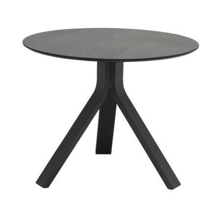 """Stern Beistelltisch """"Freddie"""", Gestell Aluminium anthrazit, Tischplatte HPL smoky, Ø 60 cm, Höhe 48 cm"""