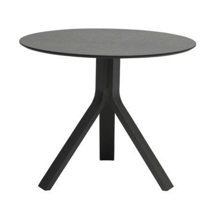 """Stern Beistelltisch """"Freddie"""", Gestell Aluminium anthrazit, Tischplatte HPL smoky, Ø 65 cm, Höhe 53 cm"""