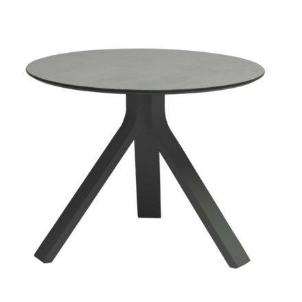 """Stern Beistelltisch """"Freddie"""", Gestell Aluminium anthrazit, Tischplatte HPL uni grau, Ø 55 cm, Höhe 43 cm"""