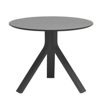 """Stern Beistelltisch """"Freddie"""", Gestell Aluminium anthrazit, Tischplatte HPL uni grau, Ø 60 cm, Höhe 48 cm"""