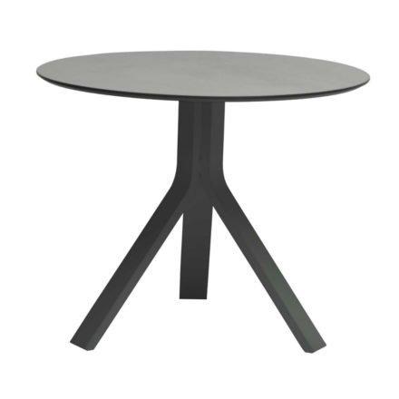 """Stern Beistelltisch """"Freddie"""", Gestell Aluminium anthrazit, Tischplatte HPL uni grau, Ø 65 cm, Höhe 53 cm"""