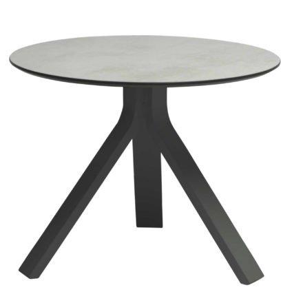 """Stern Beistelltisch """"Freddie"""", Gestell Aluminium anthrazit, Tischplatte HPL Zement hell, Ø 55 cm, Höhe 43 cm"""