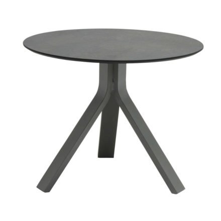 """Stern Beistelltisch """"Freddie"""", Gestell Aluminium graphit, Tischplatte HPL smoky, Ø 60 cm, Höhe 48 cm"""