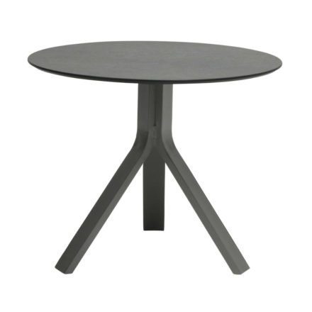 """Stern Beistelltisch """"Freddie"""", Gestell Aluminium graphit, Tischplatte HPL smoky, Ø 65 cm, Höhe 53 cm"""