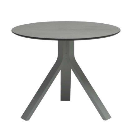 """Stern Beistelltisch """"Freddie"""", Gestell Aluminium graphit, Tischplatte uni grau, Ø 60 cm, Höhe 48 cm"""