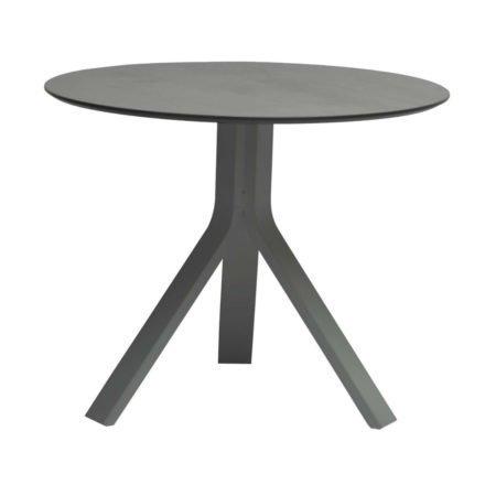 """Stern Beistelltisch """"Freddie"""", Gestell Aluminium graphit, Tischplatte uni grau, Ø 65 cm, Höhe 53 cm"""
