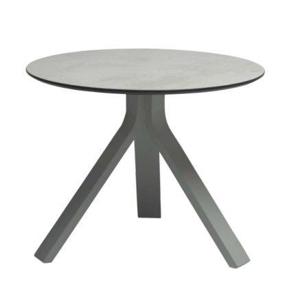 """Stern Beistelltisch """"Freddie"""", Gestell Aluminium graphit, Tischplatte HPL Zement hell, Ø 55 cm, Höhe 43 cm"""