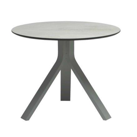 """Stern Beistelltisch """"Freddie"""", Gestell Aluminium graphit, Tischplatte HPL Zement hell, Ø 60 cm, Höhe 48 cm"""