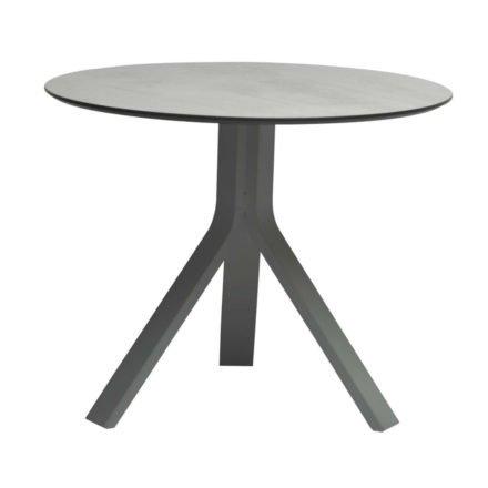 """Stern Beistelltisch """"Freddie"""", Gestell Aluminium graphit, Tischplatte HPL Zement hell, Ø 65 cm, Höhe 53 cm"""