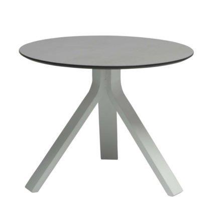 """Stern Beistelltisch """"Freddie"""", Gestell Aluminium weiß, Tischplatte HPL uni grau, Ø 55 cm, Höhe 43 cm"""