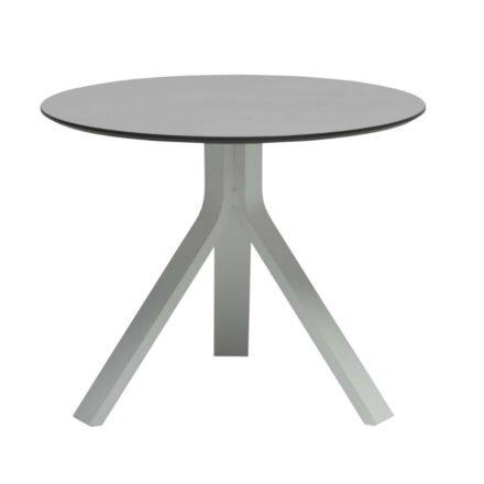 """Stern Beistelltisch """"Freddie"""", Gestell Aluminium weiß, Tischplatte HPL uni grau, Ø 60 cm, Höhe 48 cm"""