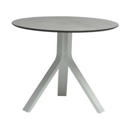 """Stern Beistelltisch """"Freddie"""", Gestell Aluminium weiß, Tischplatte HPL Zement hell, Ø 65 cm, Höhe 53 cm"""