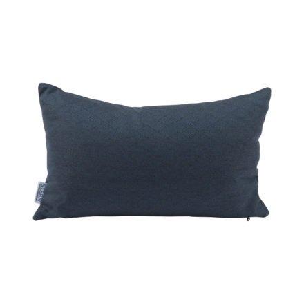 Stern Dekokissen 35x55cm, Dessin Raute dunkelblau