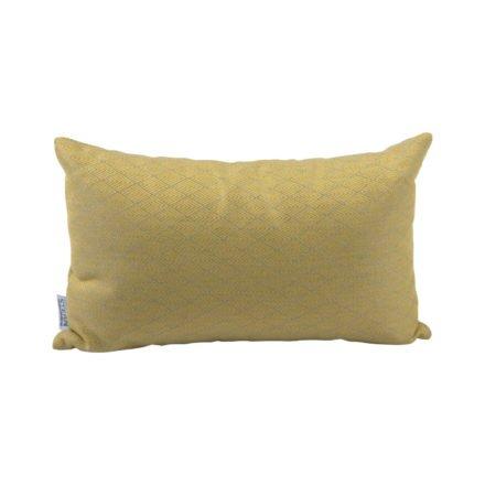 Stern Dekokissen 35x55cm, Dessin Raute gelb
