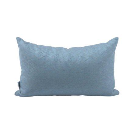 Stern Dekokissen 35x55cm, Dessin Raute hellblau